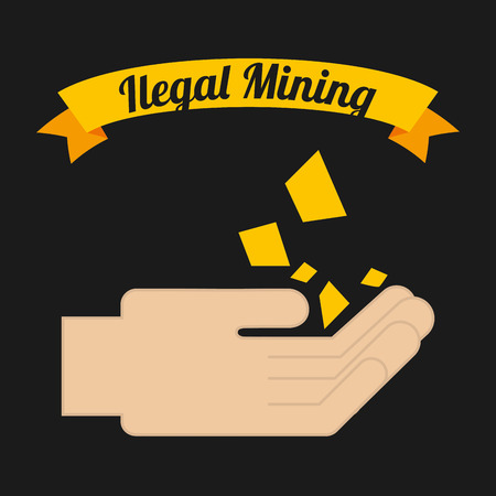 mine site: ilegal mining design, vector illustration Illustration
