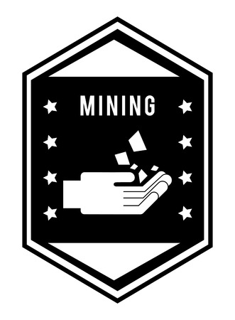 mine site: mining area design, vector illustration Illustration