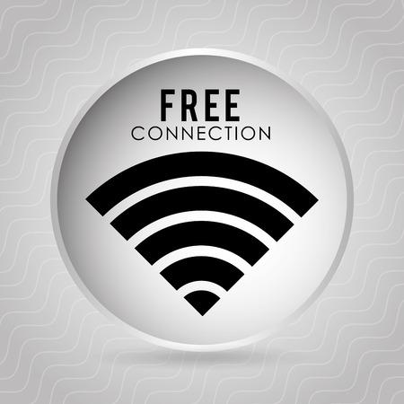 public services: wifi connection design, vector illustration eps10 graphic Illustration