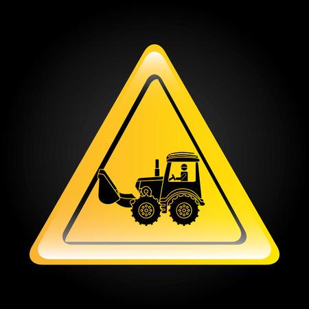 tractor warning sign: traffic sign design, vector illustration eps10 graphic Illustration