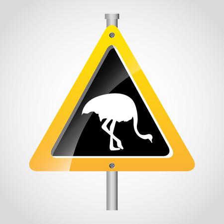 animal signal design, vector illustration eps10 graphic Vector