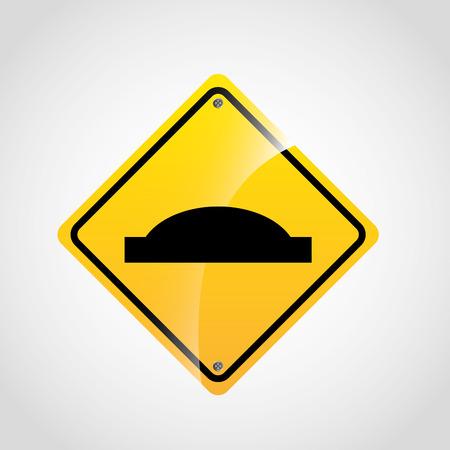 bumps: traffic sign design, vector illustration eps10 graphic Illustration