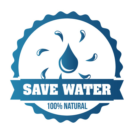 natural water design, vector illustration eps10 graphic Vector