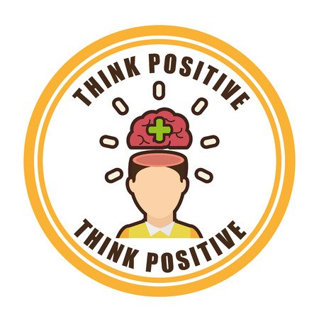 think positive design, vector illustration eps10 graphic Vector
