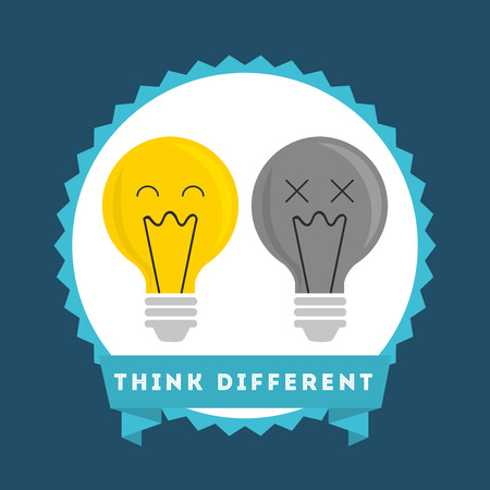 differently: think different design, vector illustration eps10 graphic Illustration