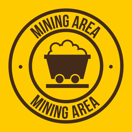 mine site: mining area design, vector illustration eps10 graphic