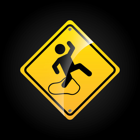 slippery floor: industry sign design, vector illustration eps10 graphic