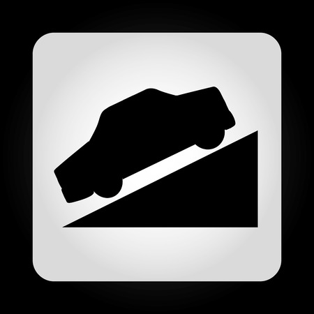 ramp: traffic sign design, vector illustration eps10 graphic Illustration