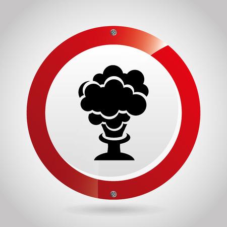 explosion hazard: industry sign design, vector illustration eps10 graphic