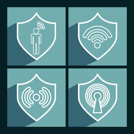 antena: wifi connection design, vector illustration eps10 graphic Illustration
