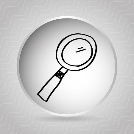 scrutinize: magnifying glass design, vector illustration eps10 graphic Illustration