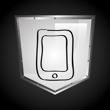 sheild: security icon design, vector illustration eps10 graphic