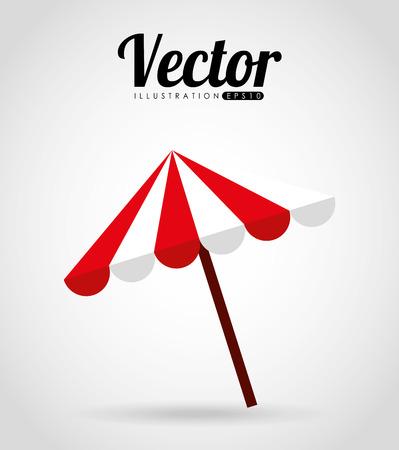 reclining: umbrella beach design, vector illustration eps10 graphic