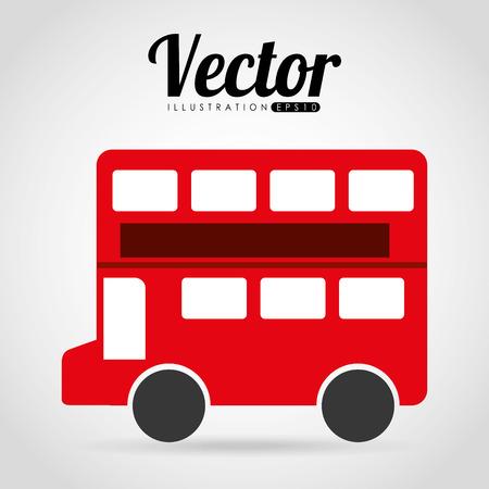 londres autobus: londres dise�o del autob�s, ejemplo gr�fico del vector eps10
