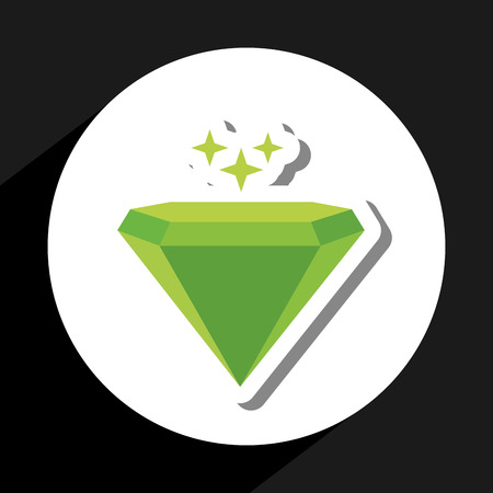 emerald gemstone: emerald icon design, vector illustration eps10 graphic