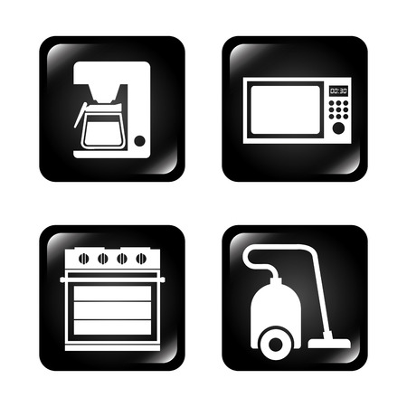 microwave ovens: home appliances design, vector illustration eps10 graphic