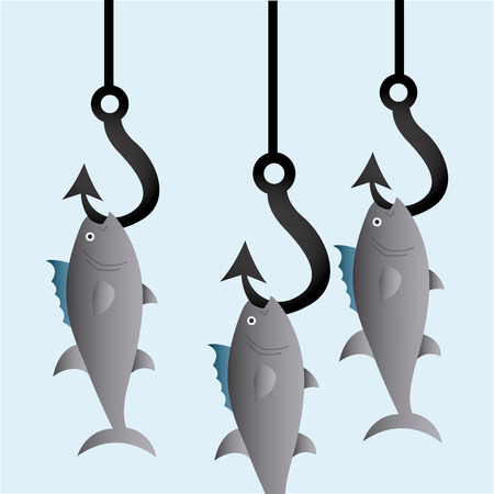 fishing icon design Vector