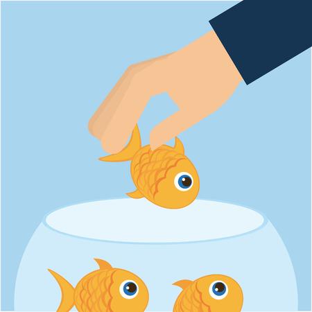 fishbowl: fish aquarium design, vector illustration