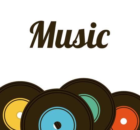 music lifestyle design, vector illustration  Illustration