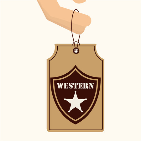 old west: old west design, vector illustration eps10 graphic Illustration