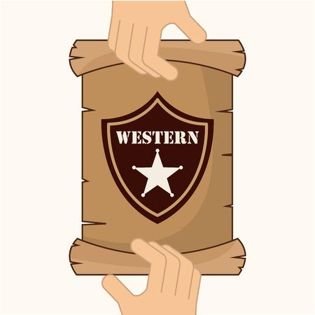 old west: old west design Illustration