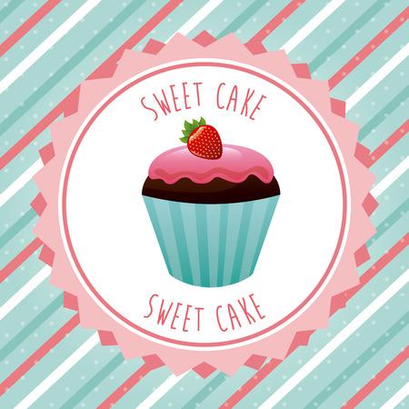cupcake illustration: cupcake design, vector illustration eps10 graphic