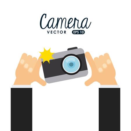 カメラ アイコンのデザイン、ベクトル図 eps10 グラフィック