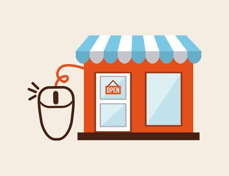 shopping online design, vector illustration eps10 graphic Vector