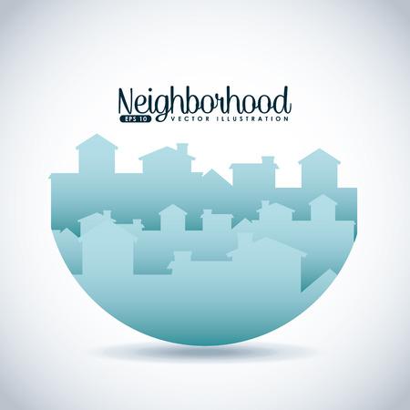 Conception du quartier de bienvenue, illustration graphique eps10 Banque d'images - 37296294