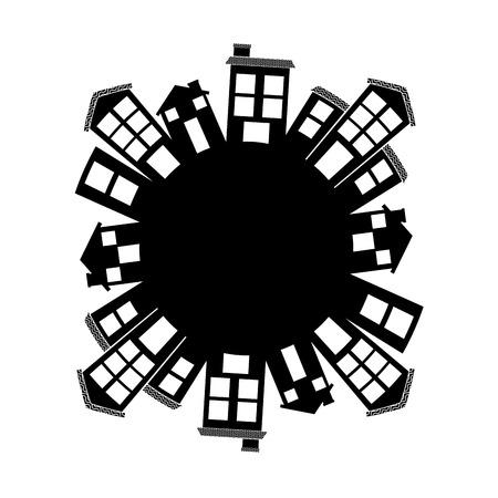 近所のデザイン、ベクトル イラストを歓迎します。  イラスト・ベクター素材