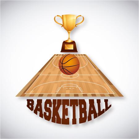 balon baloncesto: diseño de deporte de baloncesto, ilustración vectorial