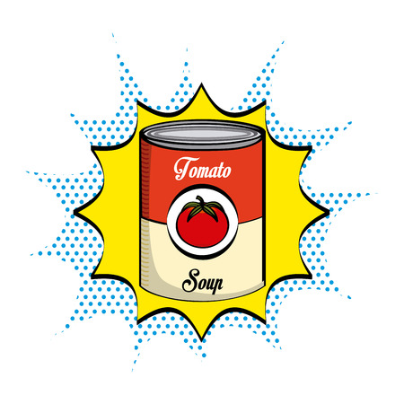 canned food: tomato soup design, vector illustration