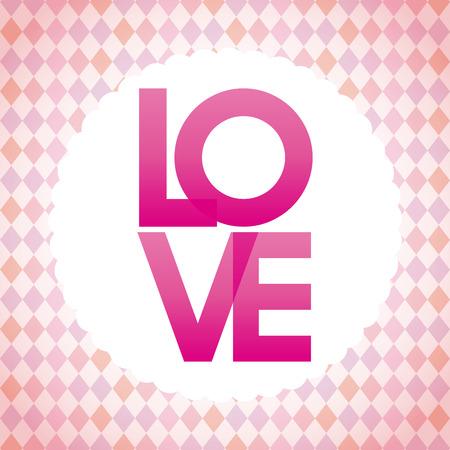 postcard design: love postcard design, vector illustration Illustration