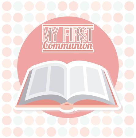 holy  symbol: mi primera comuni�n de dise�o, ilustraci�n vectorial Vectores