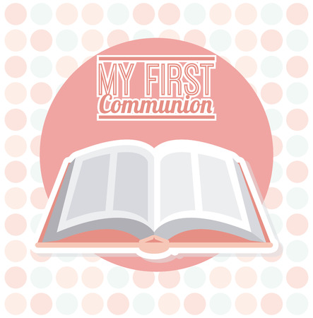 holy communion invitations: my first communion design, vector illustration  Illustration