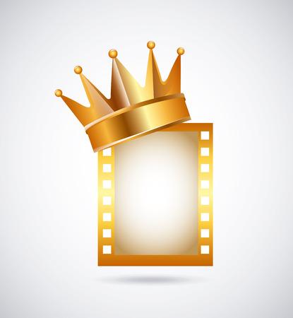 corona rey: diseño de concesión de la película, ilustración vectorial