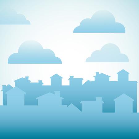 main street: welcome neighborhood design, vector illustration