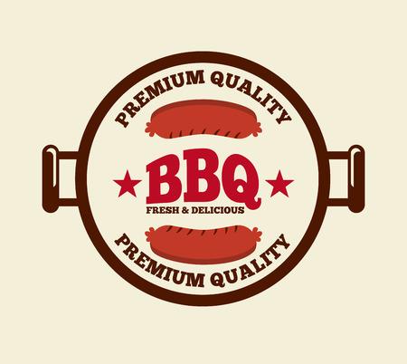 delicious barbecue design, vector illustration  Vector