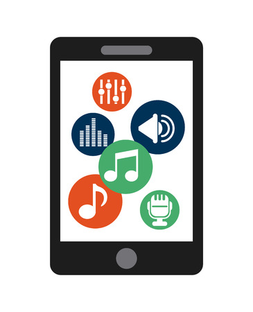 digital music: digital music design, vector illustration