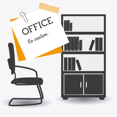 office products: Office design over white background, vector illustration.