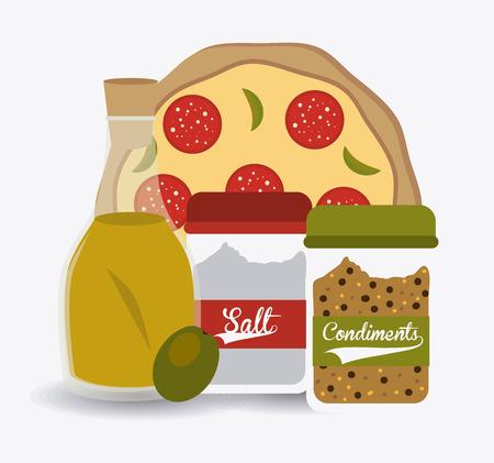 ailment: Pizza design, vector illustration. Illustration