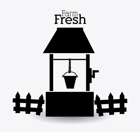 sediment: Farm design over white background, vector illustration.