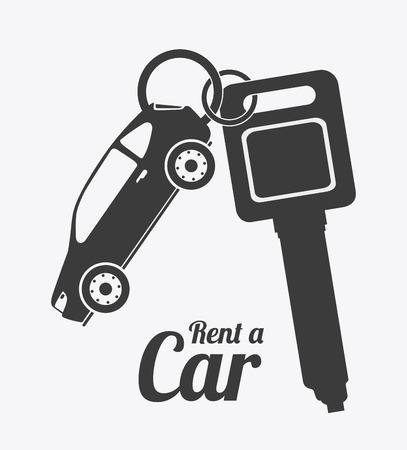 Mieten Sie ein Auto-Design auf weißem Hintergrund, Vektor-Illustration. Standard-Bild - 37303670