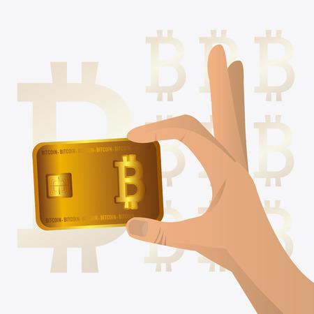 millionaire: Bitcoin desgin over white background, vector illustration.