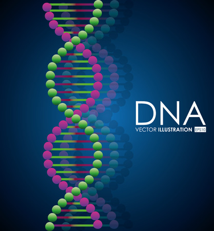 medical symbol: DNA design, vector illustration. Illustration