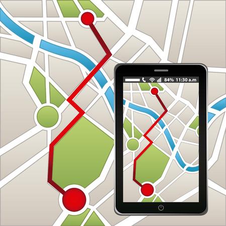 gps navigation design, vector illustration eps10 graphic Ilustração