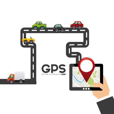 gps device: gps navigation design, vector illustration
