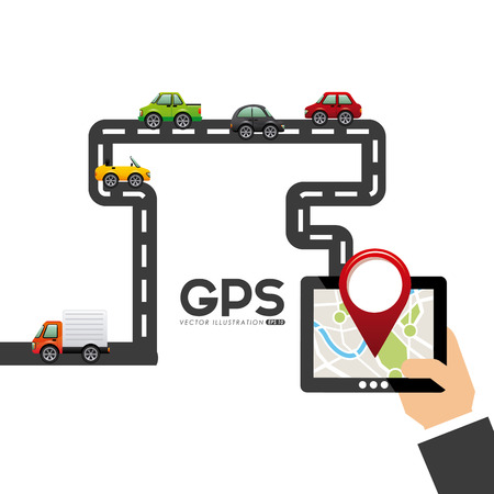 gps navigation design, vector illustration
