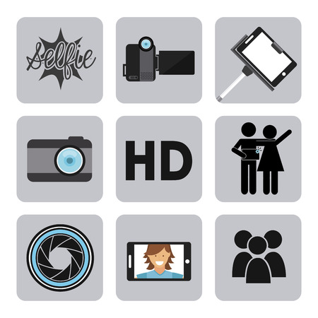 handy cam: selfie design, vector illustration