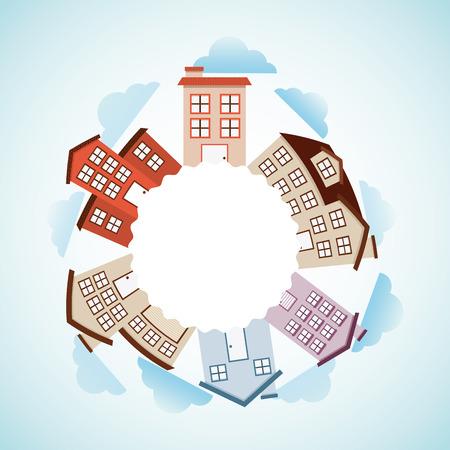 main street: welcome neighborhood design, vector illustration eps10 graphic